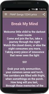 Common The Light Lyrics Fnaf Songs 1234 Lyrics Android Apps On Google Play
