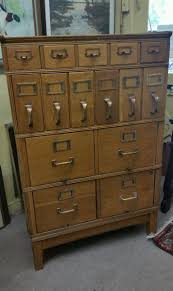 antique stackable yawman and erbe tiger oak filing cabinet