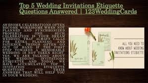 wedding invitations questions top 5 wedding invitations etiquette questions answered 123weddingca