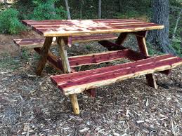 live edge outdoor table confidential rustic picnic tables 6 ft live edge eastern red cedar
