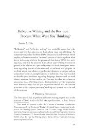 sample of a personal essay reflective writing and the revision process what were you thinking w735 2010808 0427 dc222010019487 2 reflective writing