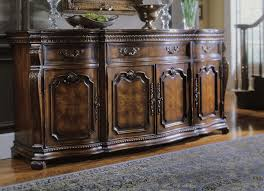 furniture antique oak sideboard buffet with beveled glass mirror