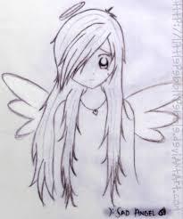 sad angel by littlepebblypebble on deviantart