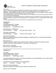 Resume For Theatre Teacher Resume Template Forms Fillable U0026 Printable Samples For
