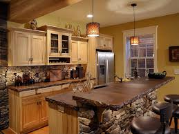 rustic kitchen cabinets ideas for large rustic kitchen with candle