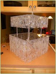 How To Make Crystal Chandelier Diy Crystal Chandelier Cake Stand Home Design Ideas