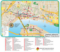 Miami Beach Bus Map Downtown Jacksonville Nc Jacksonville Downtown Transport Map