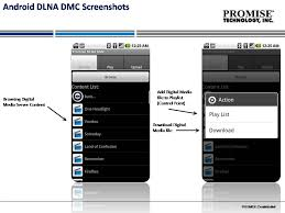 android dlna promise fusion dlna digital media application for android