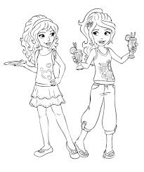lego friends coloring pages andrea shopping coloringstar