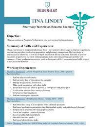 pharmacy resume example resume sample