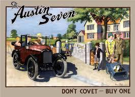 austin seven british car 1930s advertising print
