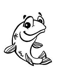smiling bass fish colouring happy colouring
