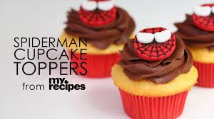 how to make spiderman cupcake topper myrecipes youtube