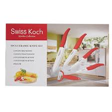 swiss koch kitchen collection swiss koch set de 5 pièces en céramique rouges brandalley