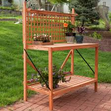 coral coast fir wood foldable potting bench hayneedle