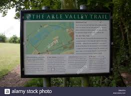 Hampshire England Map by The Arle Valley Trail Signpost And Map Alresford Hampshire