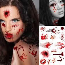 waterproof horror scary wound blood injury scar tattoo sticker