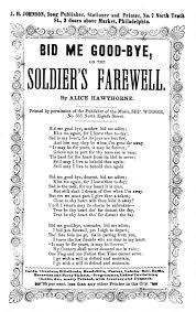 bid me bid me bye or the soldier s farewell by hawthorne