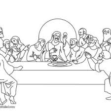 Jesus And His Disciples In Last Supper Coloring Page Coloring Sun Last Supper Coloring Page