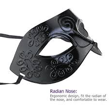 black masquerade masks for men winomo masquerade mask black venetian mask men women costume