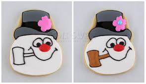 frosty snowman cookies tutorial semi sweet designs