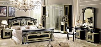 White Bedroom Furniture Sa Aida Black W Gold 5pc Set 2 549 00 Sa Furniture San Antonio