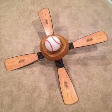 hunter baseball ceiling fan find more hunter baseball 44 in leather look kids downrod mount