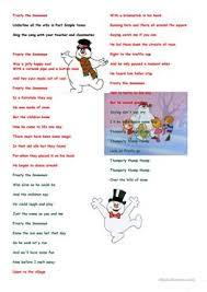 4 free esl frosty snowman worksheets