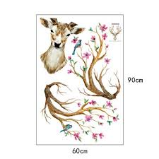 online shop new arrival 3d plum flower deer wall stickers diy online shop new arrival 3d plum flower deer wall stickers diy decoration pvc removable waterproof poster for living kids rooms aliexpress mobile