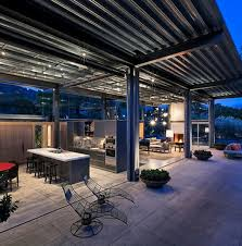 Ideas For Backyard Patios by Ibr Sheeting Is Another Option For Roofing A Patio Or