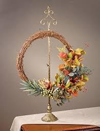 parisian wreath stand adjustable height home kitchen