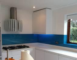 Smartpack Kitchen Design Blue Glass Splashback Fitted By Easy Glass Splashbacks Showing