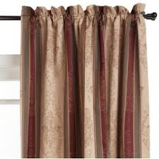 Thermal Panel Curtains Window Covers For You Tuscan Striped Thermal Panel Curtains