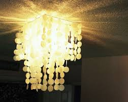 Capiz Shell Light Fixtures Diy Faux Capiz Shell Pendant Light Chandelier
