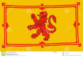 Lion Flag Scottish Lion Flag Vector