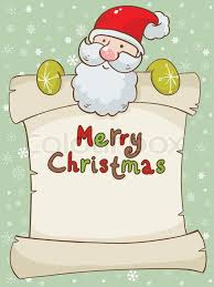card with santa and scroll stock vector colourbox