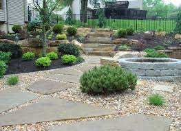 Backyard Gravel Ideas - lawn garden excellent small gardens design with grey gravel