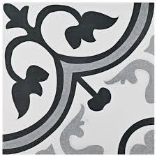 black white design 12x12 ceramic tile tile the home depot