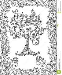 tree zentangle coloring page stock illustration image 54883215