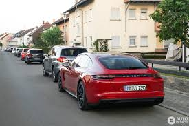 Porsche Panamera Red - 2018 porsche panamera turbo s e hybrid spotted in germany a