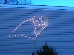 Carolina Panthers Flags Panthers Logo In Christmas Lights Carolina Panthers Football