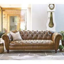 cheap chesterfield sofa wellington 3 seater semi aniline leather chesterfield sofa caramel