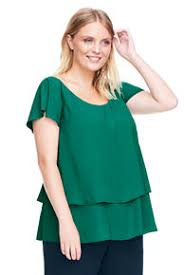 plus size blouse s green shirts and blouses lands end