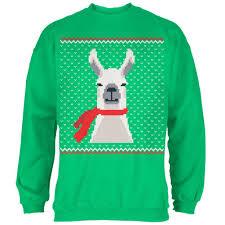 Ugly Green Ugly Christmas Sweater Big Llama Irish Green Sweatshirt