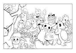 coloring pages for pokemon characters pokemon characters coloring pages pictures to color and print