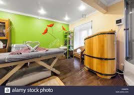 interior of luxury beauty salon philosofiya stilya massage room