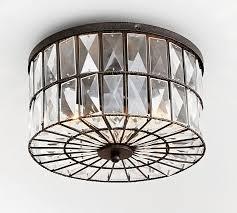 pottery barn ceiling lights adeline crystal flushmount pottery barn