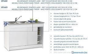 evier cuisine 100 x 50 meuble sous évier cuisine 100x50 avec porte coulissante a vendre