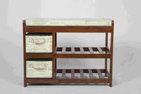 walnut classical modern wood furniture shoe storage bench seat
