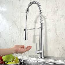 china stainless steel spring pull down kitchen faucet with
